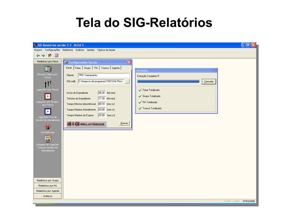 DigiCall - SIG-Relatorios - tela